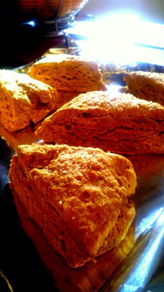 scones on pan