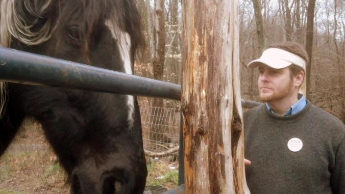 Colin and Lightning. (Lightning is the horse)